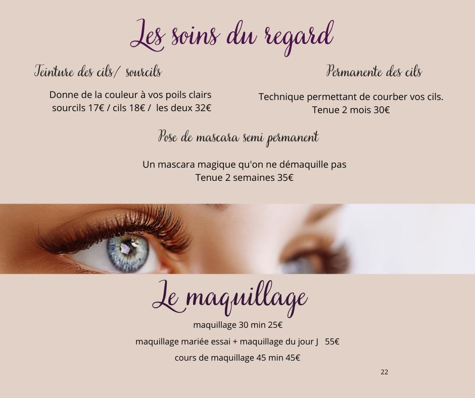 les soins du regard et le maquillage